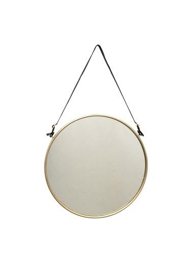 Warm Design Metal Çerçeveli Yuvarlak Ayna Renkli
